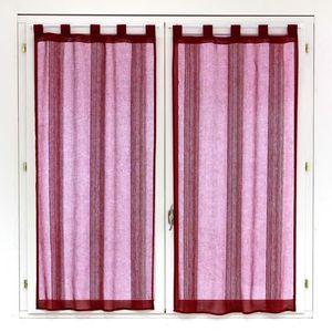 rideaux vitrage rouge achat vente rideaux vitrage rouge pas cher cdiscount. Black Bedroom Furniture Sets. Home Design Ideas