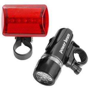 ECLAIRAGE POUR VÉLO Etanche 5 Lampe LED vélo avant vélos Head Light +