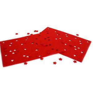 JEU DE SCRAPBOOKING Set en feutre avec étoiles, rouge set de 2