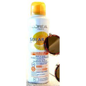 SOLAIRE CORPS VISAGE L'Oréal - Lait en spray SPF15 Solar Expertise