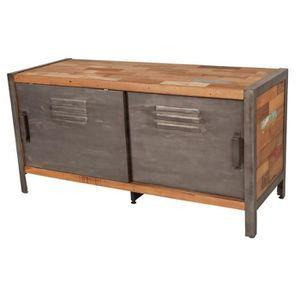 meuble tv industriel achat vente meuble tv industriel pas cher cdiscount. Black Bedroom Furniture Sets. Home Design Ideas