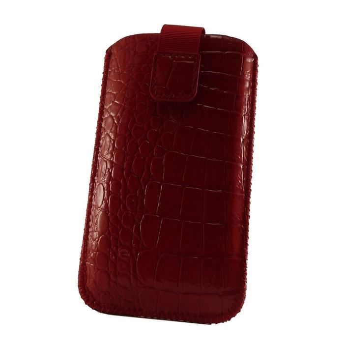 Acce2s pour wiko sunny housse aspect croco rouge for Housse wiko sunny 2