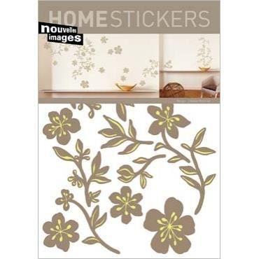 Stickers muraux guirlande beige 2 planches achat vente stickers cdiscount - Stickers muraux cdiscount ...