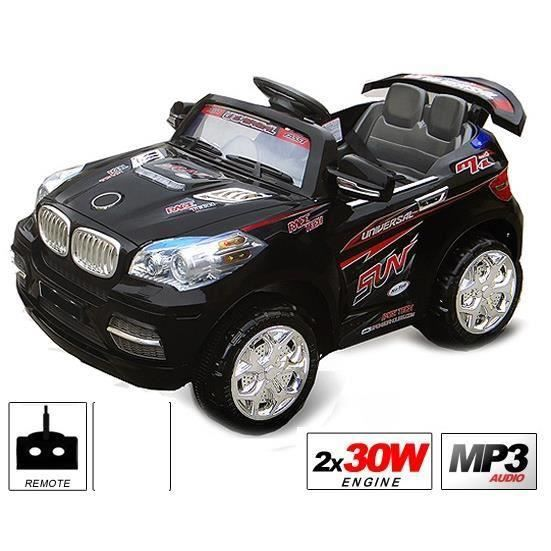 voiture lectrique pour enfant 4x4 2x30w 12v noire achat vente voiture voiture lectrique. Black Bedroom Furniture Sets. Home Design Ideas