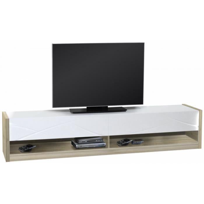 meuble tv scandinave noir. Black Bedroom Furniture Sets. Home Design Ideas
