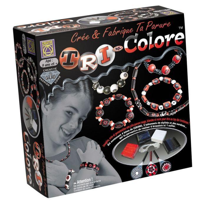 cr e et fabrique ta parure tricolore achat vente kit bijoux cr e et fabrique ta parure. Black Bedroom Furniture Sets. Home Design Ideas