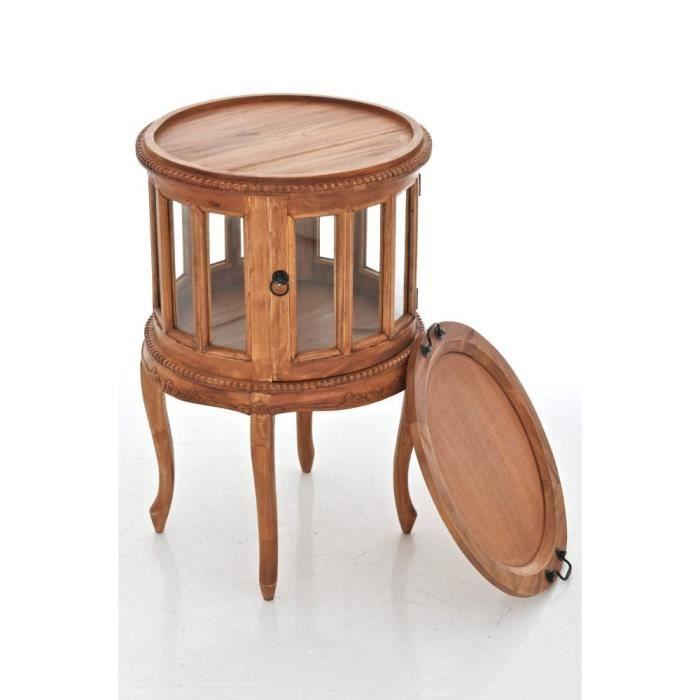 Clp table ronde de th en bois d acajou avec 50 cm de for Clp annex 6 table 3 1