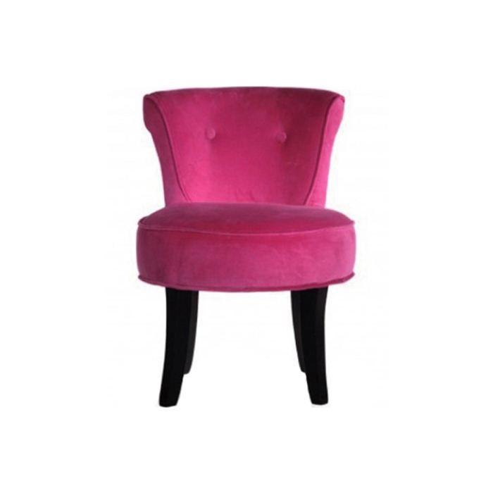 Fauteuil velours fushia glam achat vente fauteuil - Fauteuil crapaud fushia ...