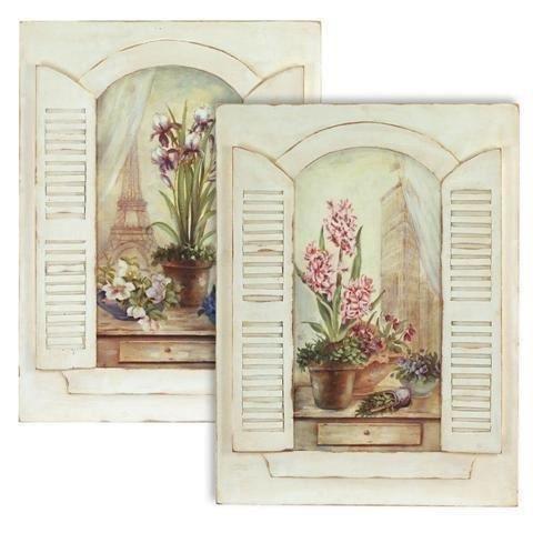 Tableau x2 fenetre 60x45 cm achat vente tableau for Decoration tableau fenetre
