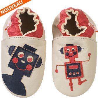 chaussons b b cuir souple les r multicolor achat vente chausson pantoufle cdiscount. Black Bedroom Furniture Sets. Home Design Ideas