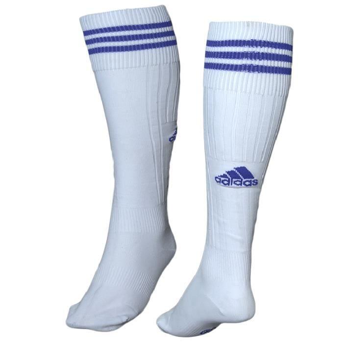 chaussette de foot adidas adisoc blanc bleu prix pas cher cdiscount. Black Bedroom Furniture Sets. Home Design Ideas