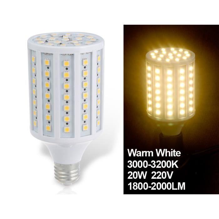 huimin 20w e27 102 x 5050smd chaud ampoule led achat vente ampoule led cdiscount. Black Bedroom Furniture Sets. Home Design Ideas