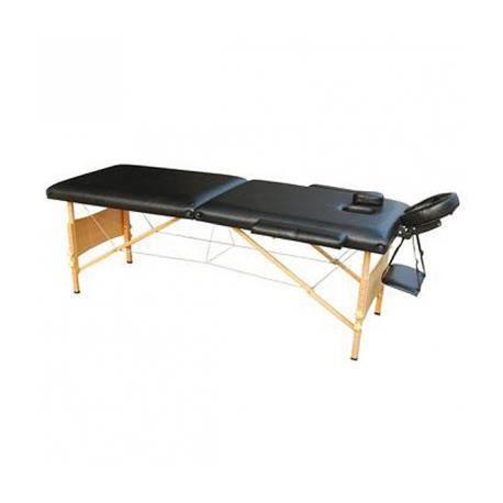 Table de massage pliante bois 2 zones noire achat vente table de massage - Achat table de massage pliante ...