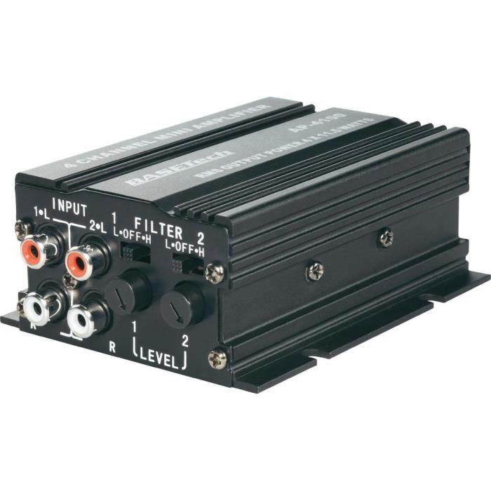 mini amplificateur 4 x 50 w basetech ap 4012 achat vente amplificateur auto mini. Black Bedroom Furniture Sets. Home Design Ideas