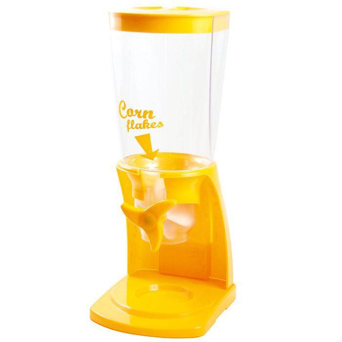 DISTRIBUTEUR VRAC  Distributeur de céréales - Corn Flakes - Jaune