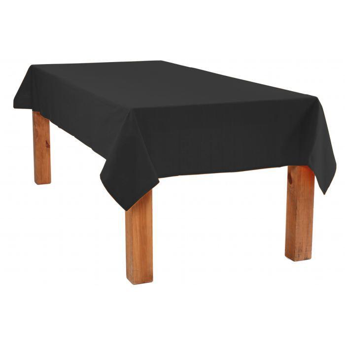 Nappe coton 150x250 noir achat vente nappe de table for Nappe de table carre