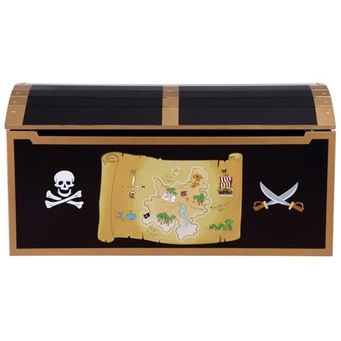 coffre aux tr sors pirate 99 1 x 58 4 x 29 2 cm achat vente coffre jouets 6037657106438. Black Bedroom Furniture Sets. Home Design Ideas