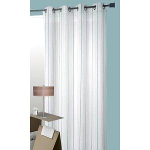 voilage blanc et bleu achat vente voilage blanc et bleu pas cher soldes d hiver d s le. Black Bedroom Furniture Sets. Home Design Ideas