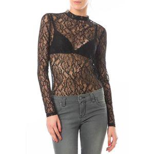 Body Ml Lace Up Vero Moda Noir