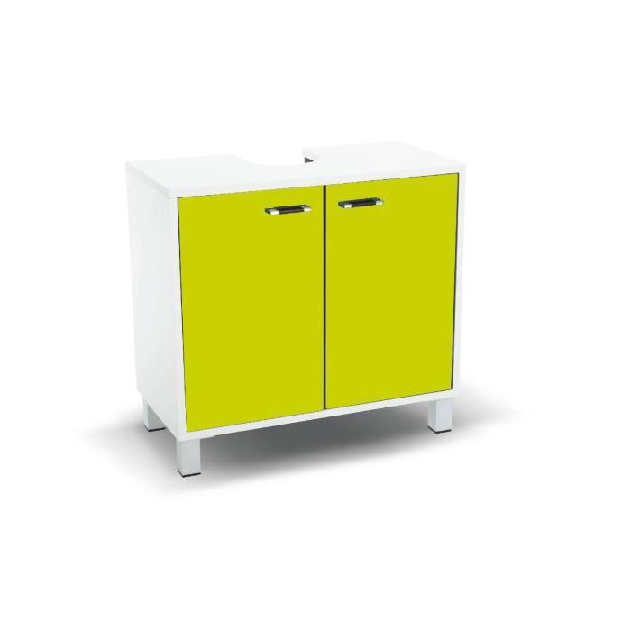 meuble sous lavabo vert achat vente meuble vasque plan meuble sous lavabo vert bois. Black Bedroom Furniture Sets. Home Design Ideas