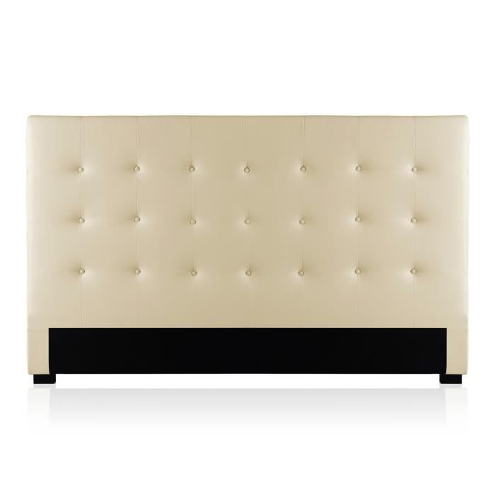 t te de lit capitonn e premium 180cm beige achat vente. Black Bedroom Furniture Sets. Home Design Ideas