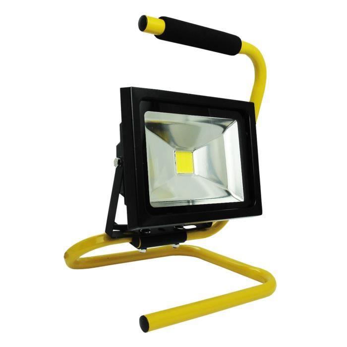 projecteur de chantier led 10w portable c ble achat vente lampe de chantier cdiscount. Black Bedroom Furniture Sets. Home Design Ideas