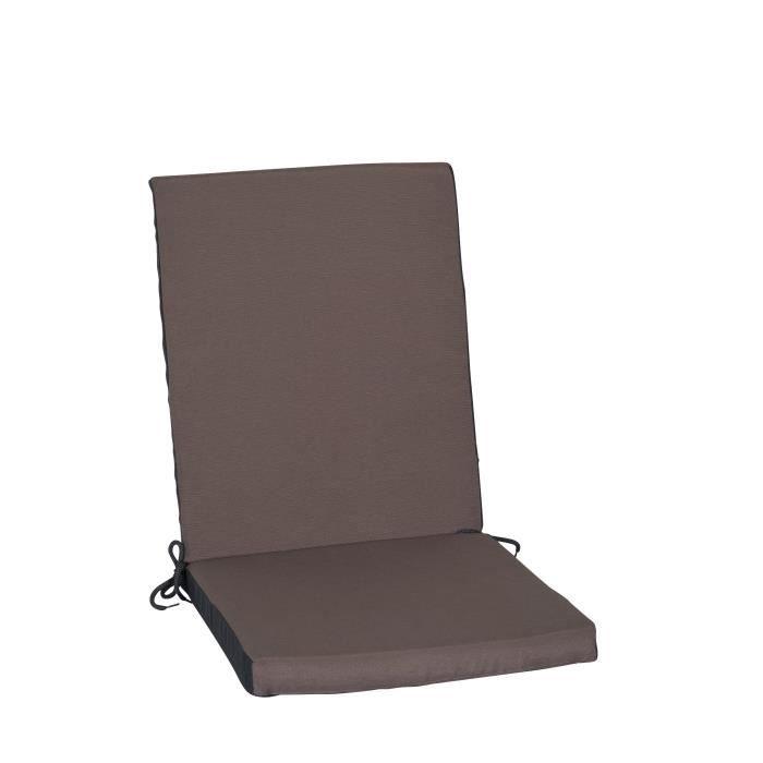 Coussin chaise de jardin dossier haut achat vente - Coussin de chaise avec dossier ...