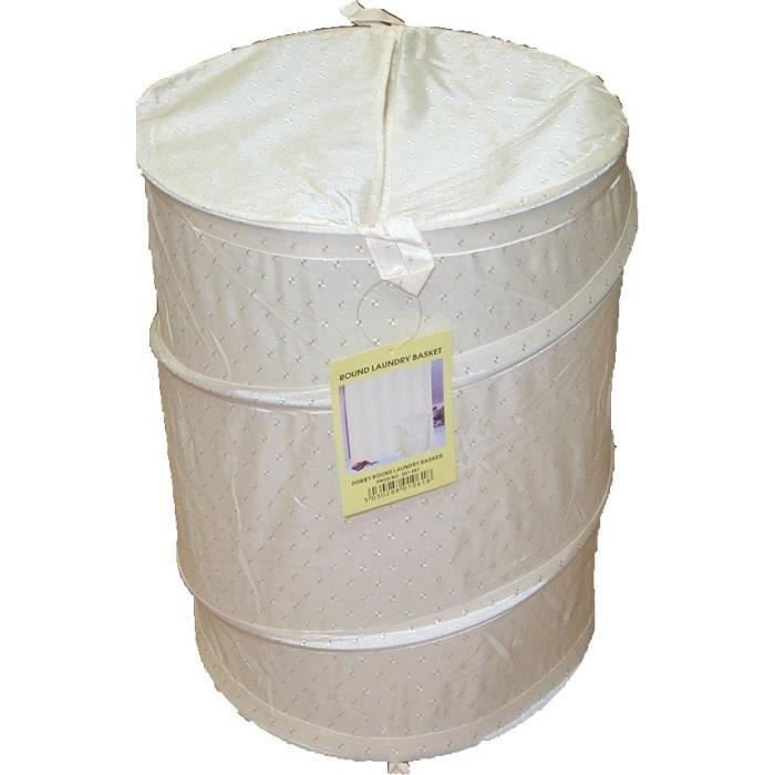 panier linge pliable blanc achat vente panier linge pliable bl cdiscount. Black Bedroom Furniture Sets. Home Design Ideas