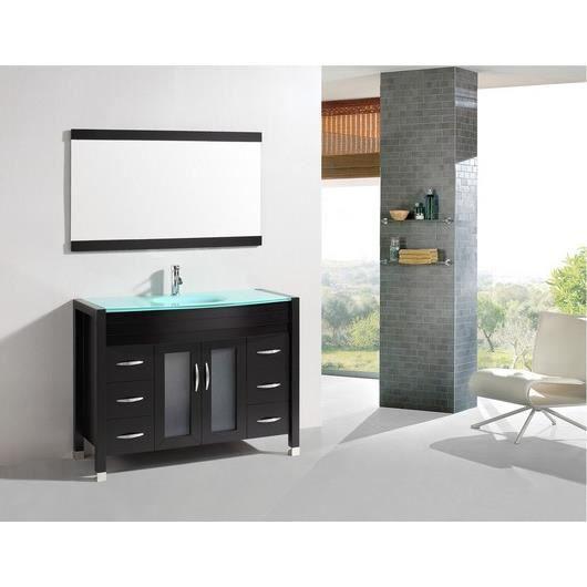 L 39 albe meuble salle de bain 1 vasque 1 miroir achat for Meuble vasque salle de bain soldes