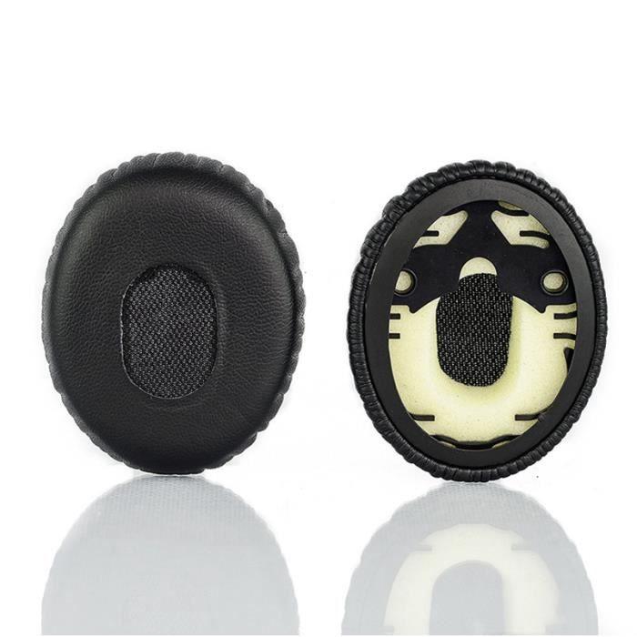 2pcs remplacement pu doux mousse casque oreillettes. Black Bedroom Furniture Sets. Home Design Ideas