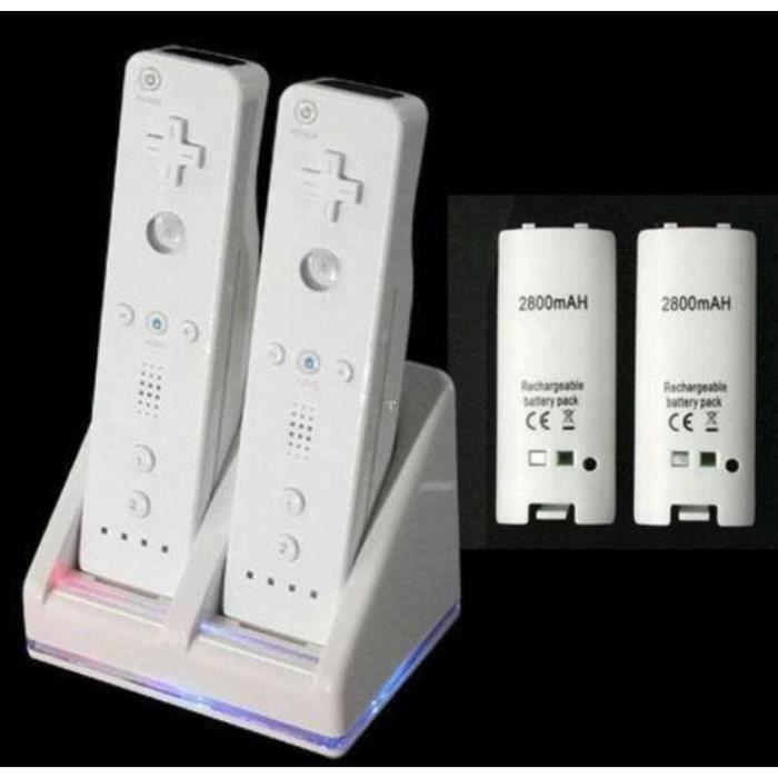 batteries manette wii avec double chargeur haute capacit. Black Bedroom Furniture Sets. Home Design Ideas