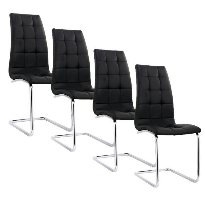 Lot de 4 chaises noir matelass design et moderne achat - Lot de 4 chaises design ...
