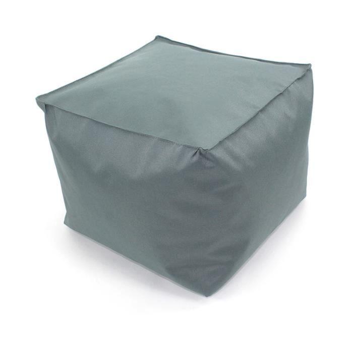 pouf tout carr int rieur ext rieur 30x30x25cm gris. Black Bedroom Furniture Sets. Home Design Ideas