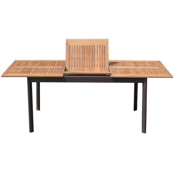 Table de jardin 8 10 places teck achat vente table de jardin table de j - Table de jardin brico ...