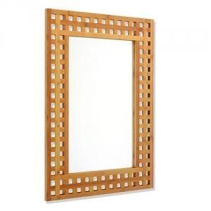 Miroir de salle de bain d cor bambou achat vente for Bambou salle de bain sans fenetre