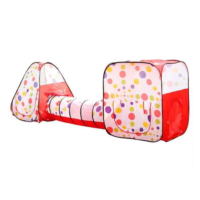 excelvan 2xtente avec tunnel enfant activit 233 3 en 1 tente de jeu jouet cadeau pr enfant achat