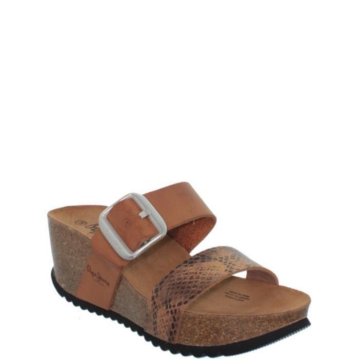 mules pepe jeans ref pepe36937 noisette noisette achat vente mule les soldes sur. Black Bedroom Furniture Sets. Home Design Ideas