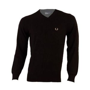 PULL Pull FRED PERRY homme col V M9256 noir