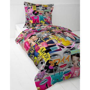 housse de couette pour fille achat vente housse de couette pour fille pas cher cdiscount. Black Bedroom Furniture Sets. Home Design Ideas