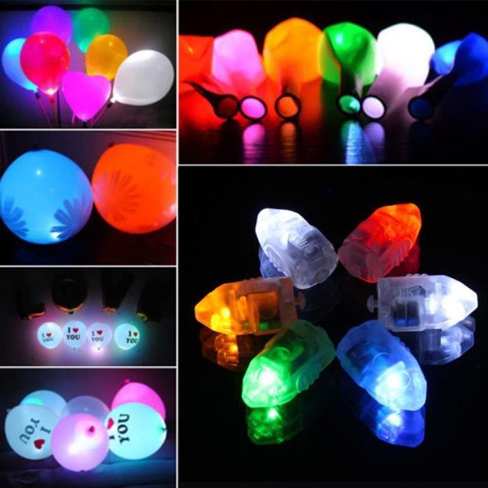 Lot de 50 lampes led blanc pour ballons pour d co de saint for Led pour deco