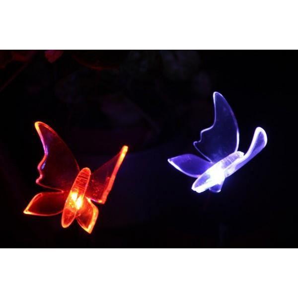 Papillon lumineux solaire d coration solaire achat for Cdiscount decoration