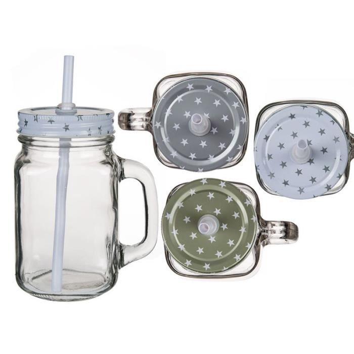 1 verre avec couvercle toile et paille 450ml achat vente verre eau soda cdiscount. Black Bedroom Furniture Sets. Home Design Ideas