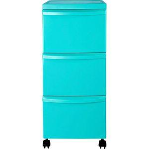 TOUR DE RANGEMENT Colores Pratique Tour de rangement bleue 3 tiroirs
