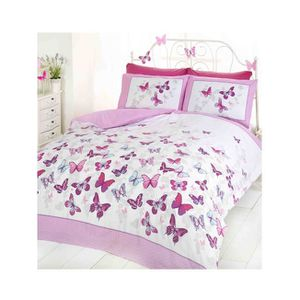 housse de couette papillon achat vente housse de couette papillon pas cher soldes cdiscount. Black Bedroom Furniture Sets. Home Design Ideas