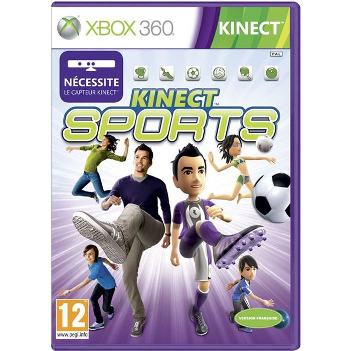 kinect sports jeu xbox 360 achat vente jeux xbox 360. Black Bedroom Furniture Sets. Home Design Ideas
