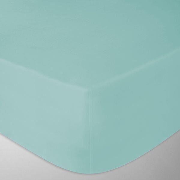 drap housse flanelle 180x200 cm couleur bleu duck fabrication portugaise achat vente drap. Black Bedroom Furniture Sets. Home Design Ideas