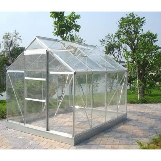 serre de jardin 86 verre tremp 4 mm 4 65 m achat vente serre de jardinage serre de jardin. Black Bedroom Furniture Sets. Home Design Ideas