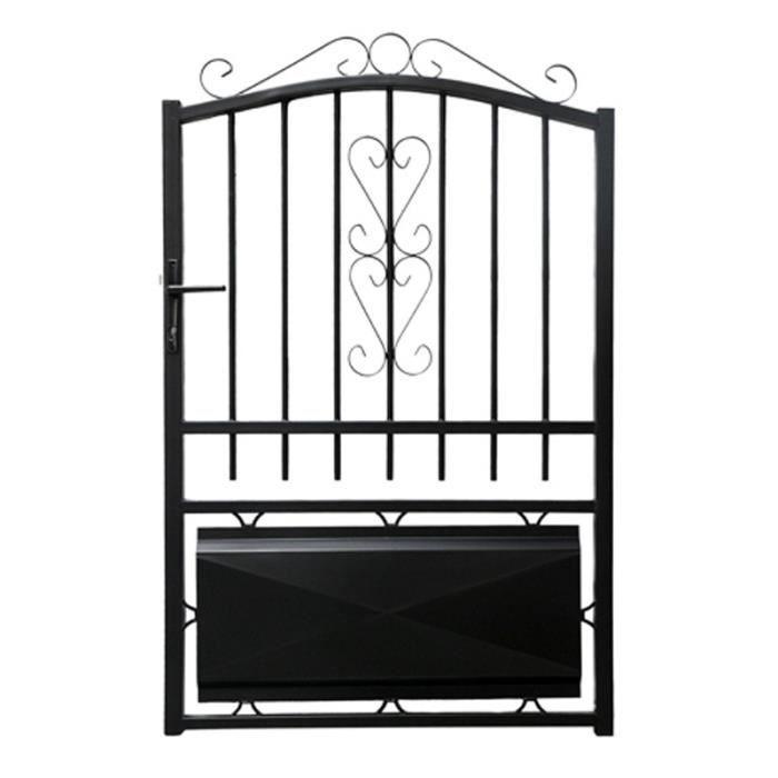 portillon fer 1m lacanau noir achat vente portail portillon les soldes sur cdiscount. Black Bedroom Furniture Sets. Home Design Ideas