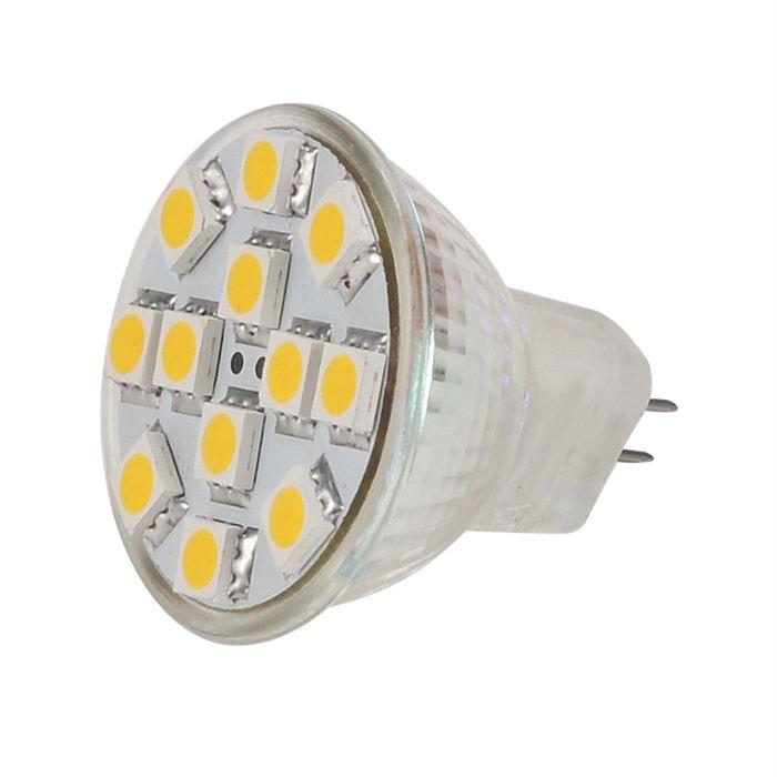 ampoule 12 leds smd blanc chaud culot mr11 gu4 achat vente ampoule 12 leds smd blanc. Black Bedroom Furniture Sets. Home Design Ideas