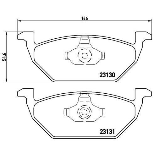 brembo jeu de 4 plaquettes de frein p85041 achat vente. Black Bedroom Furniture Sets. Home Design Ideas